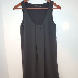 Theory black sleeveless shirt dress size 2